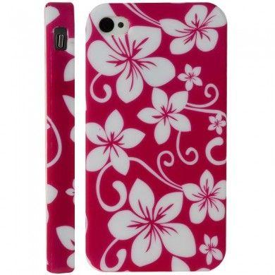 Carcasa iPhone 4 4S - Gel Flores 1  CL$ 4.992,00