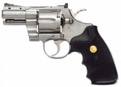 The Equilizer....colt python with 2 1/2 barrel .357 magnum