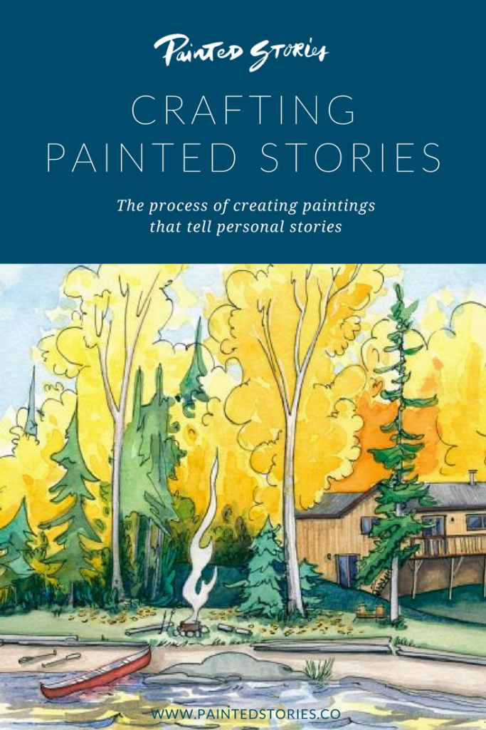 Painted Stories: The process of creating custom paintings, watercolour paintings, drawings. House and cottage portraits. Family  memories, personal story, and memory.