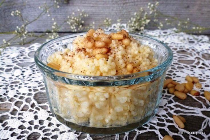 Пшенная каша с медом, кедровыми орешками и корицей