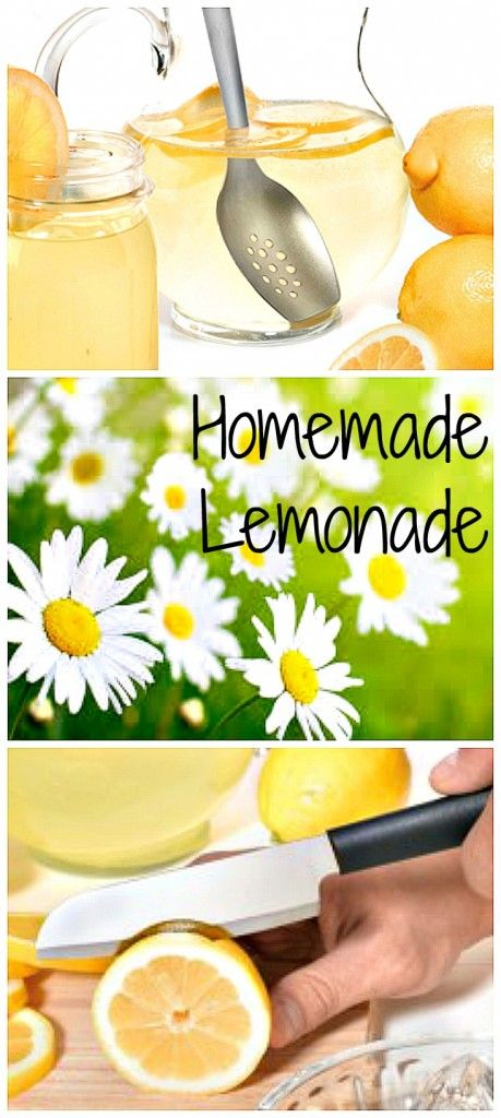 There is nothing better than a refreshing glass of freshly squeezed lemonade on a hot day. Here is a simple homemade lemonade recipe made with real lemons. #lemonade #lemons