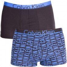 Calvin Klein 2 pack černo-modrých pánských boxerek - 1120 Kč