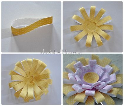 How to make a chrysanthemum paper flower