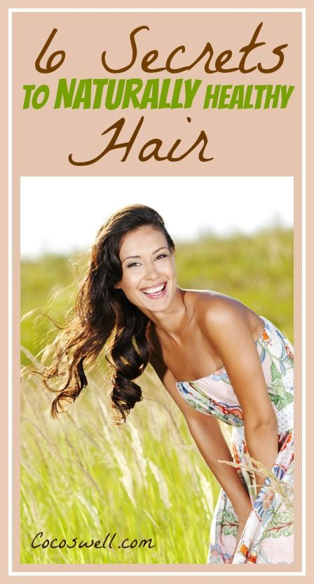 6 secrets to naturally healthy and shiny hair! It's time to trash your toxic hair products! www.cocoswell.com