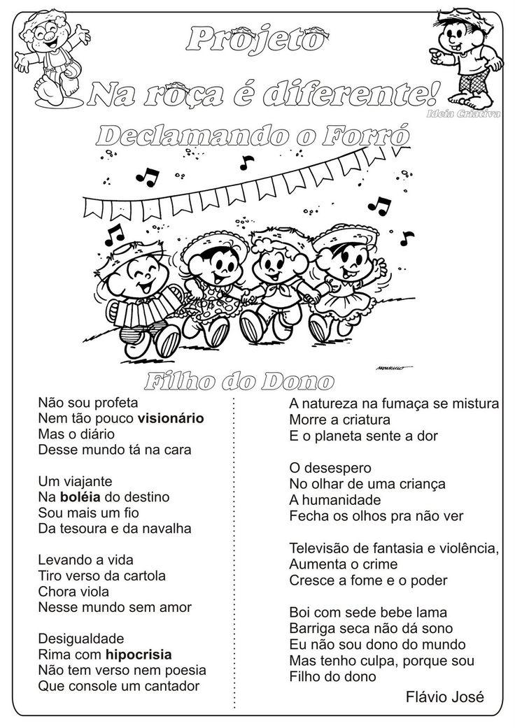 Lipitipi- Atividades e Projetos Fundamental I: Atividade Festas Juninas Declamando o Forró Filho do Dono Composição de Petrúcio Amorim