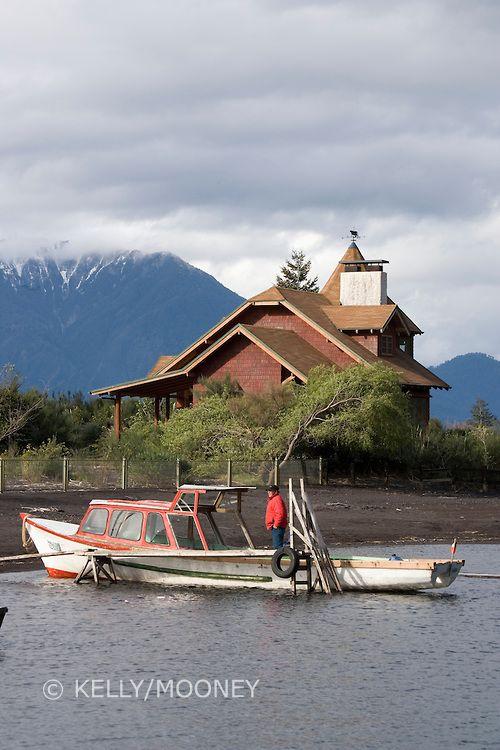 Wooden boats, Lake Todos los Santos, Chile