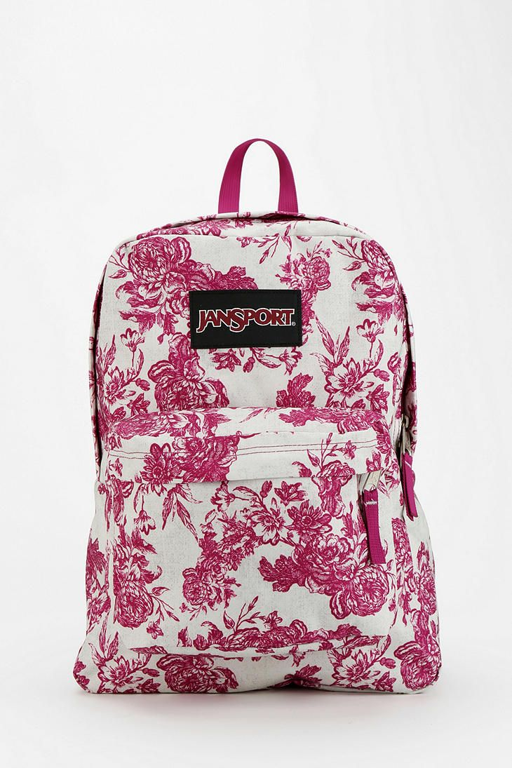 jansport etoile floral print backpack