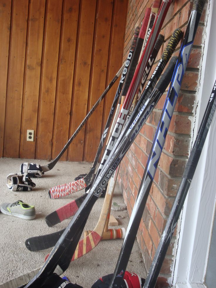 road hockey at our place
