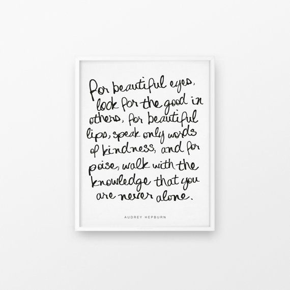 Printable Art Audrey Hepburn Quote for by FleurtCollective on Etsy