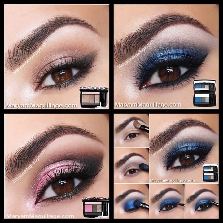 Lancôme eye shadow palettes - could work for any color eye♥  I have the bottom left palette!