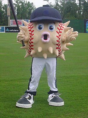 Blowie---the mascot for an independent minor league baseball team, called the Columbia Blowfish.