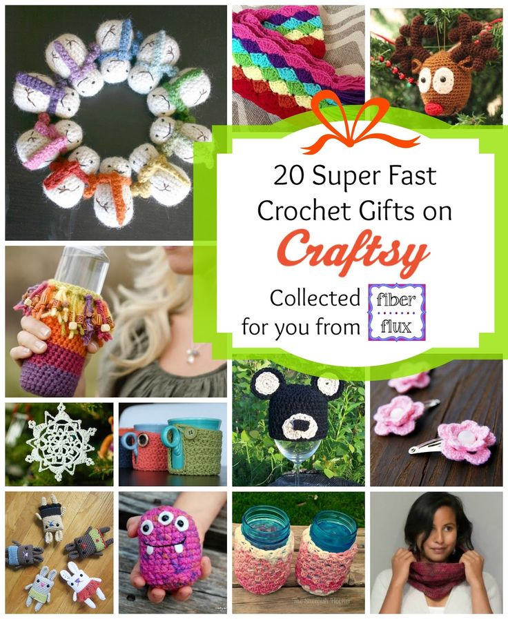 Fiber Flux...Adventures in Stitching: 20 Super Fast Crochet Gifts from Craftsy!