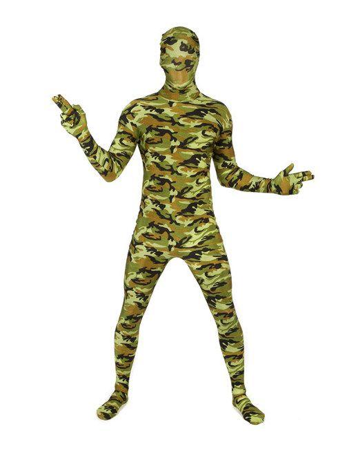 Morphsuit Tarnfarben Soldat camouflage. Aus der Kategorie Karnevalskostüme / Morphsuits. Mit diesem großartigen Camouflage Morphsuit sind Sie im Party-Gelände bestens getarnt und fallen doch auf wie ein bunter Hund. Morphsuits sind die perfekte Verkleidung für alle, die unerkannt bleiben wollen. Einfach perfekt für Kostüm-Parties, Motto-Feiern, Festivals, Fußball-Events usw.