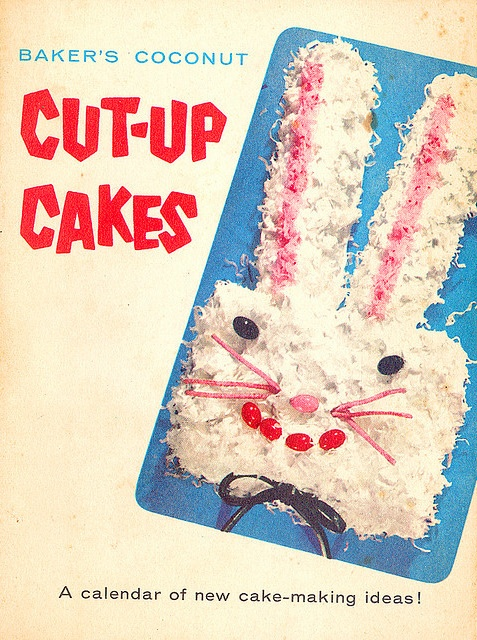 Baker's Coconut Cut-up Cakes promotional booklet, 1956