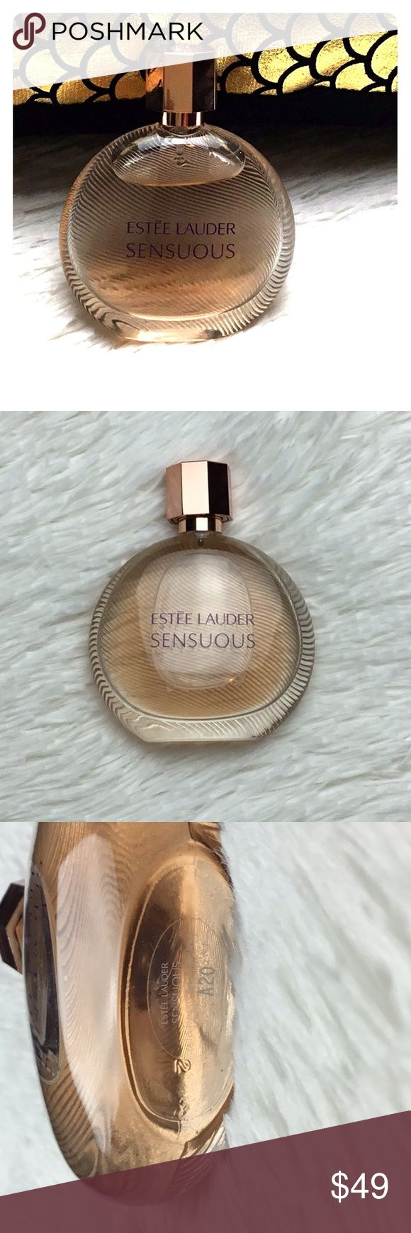 Estée Lauder Sensuous perfume 1.7 oz new women's Estée Lauder Sensuous Perfume Retail $69 1.7 oz A modern definition of sensuality. Confident and elegant. A rich core of Molten Woods and Amber, surrounded by atmospheric florals, warmed by a hint of Pepper and a touch of Honey.  Warm Notes: Molten Woods, Amber  Feminine Notes: Jasmine, Ghost Lily, Magnolia, Ylang  Luminous Notes: Black Pepper, Sandalwood, Honey, Mandarin Orange Pulp  No box included Use once but cannot use due to skin…