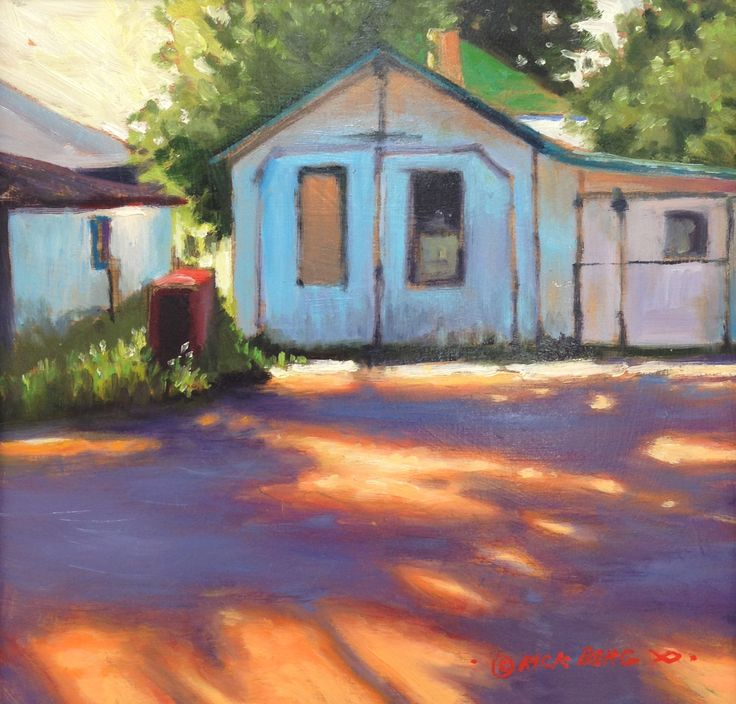 """Denny's Old Shed"" Oil 12"" X 12"" $850.00"