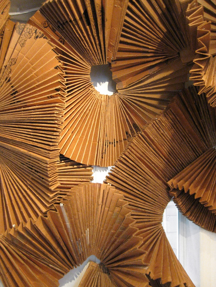 cardboard pleats