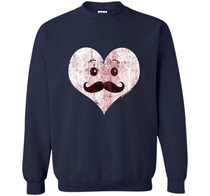 Vintage Kawaii Heart Mustache Men's Valentine's Day T-Shirt