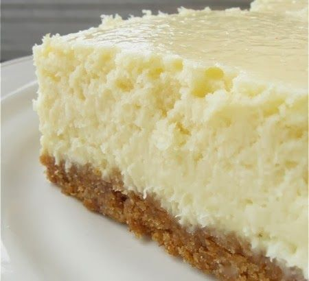 Vanilla Bean Cheesecake Bars - Creamy, vanilla-scented bars, perfect with a cup of coffee..