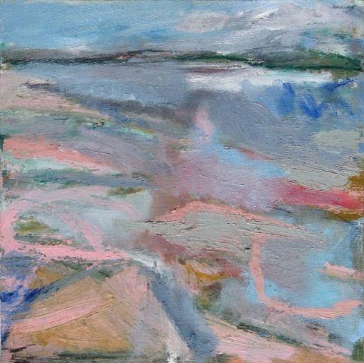 'Cayton Bay', Janine Baldwin, oil on panel, 26 x 26cm  www.janinebaldwin.com
