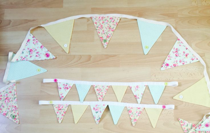 Bunting and bunting tie backs for baby girl bedroom, easy to do
