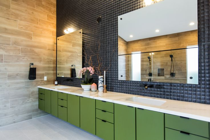 Double sinks find this modern luxurious master bathroom for Bathroom remodel henderson nv