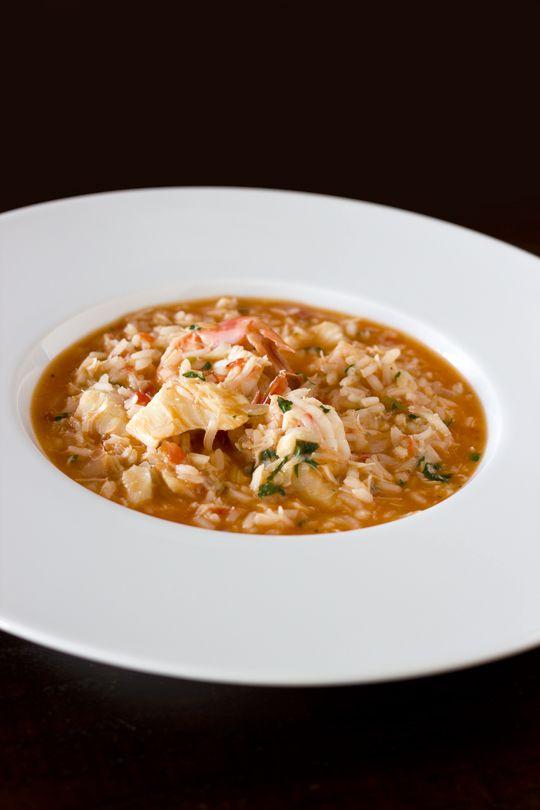 arroz caldoso de bacalhau
