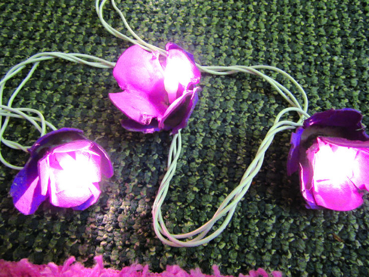 DIY: Egg-carton lights