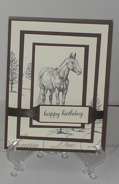 triple trees horse by jeenny2010 - Cards and Paper Crafts at Splitcoaststampers