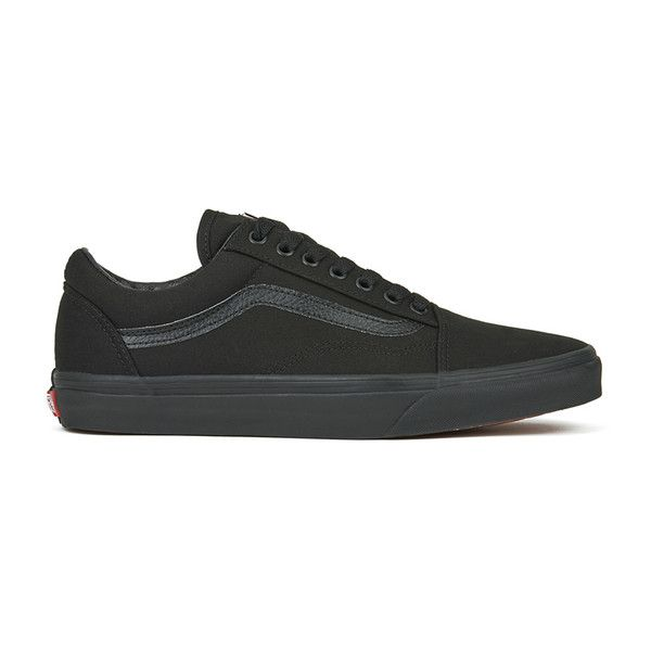 Vans Unisex Old Skool Canvas Trainers ($66) ❤ liked on Polyvore featuring shoes, sneakers, black, vans, zapatillas, black sneakers, low top canvas sneakers, black canvas sneakers, skate shoes and vans shoes