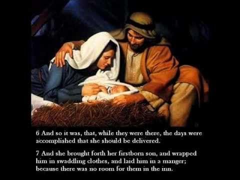 The Story of Jesus' Birth from Luke Chapter 2 (KJV) - YouTube