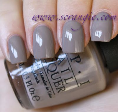 My absolute favorite colour for fall: OPI from their German collection,  'Berlin There, Done That'