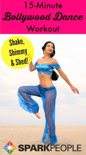 Shake, shimmy and shed pounds with this totally fun Bollywood dance workout! | via @SparkPeople #fitness #exercise #video #belly #dancing