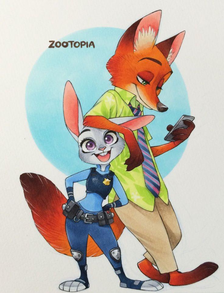 Nick and Judy by SAkURA-JOkER on @DeviantArt