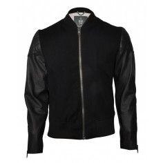 Bolongaro Trevor Jacket Black/Black. Based on a traditional sports jacket with classic rib collar.