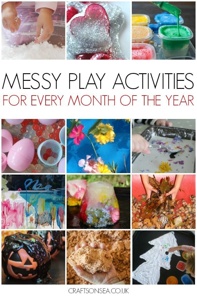 Get inspired by these brilliant messy play activities with achievable themed ideas for every month of the year! Fun sensory play ideas kids will love.