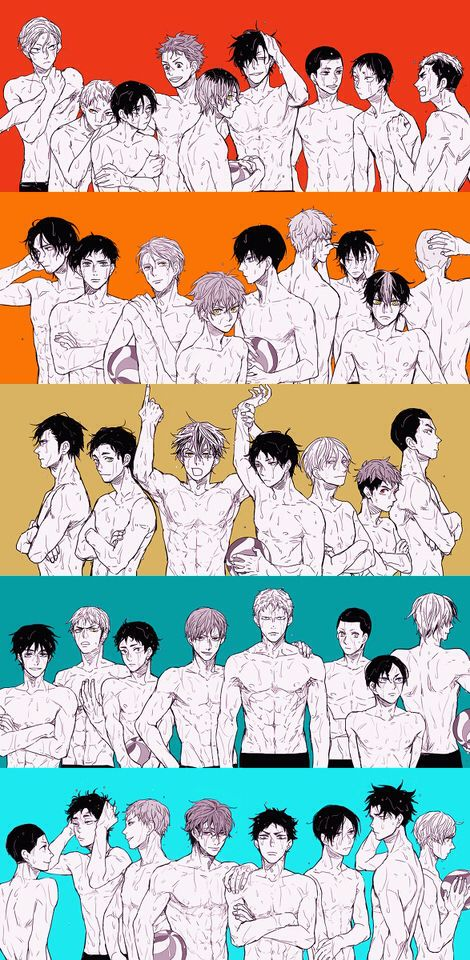 Haikyuu!! || I would definitely rewatch this anime if they looked like this..... even if I've already watched it like 5 times..