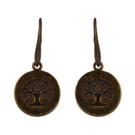 Pendientes Árbol de la Vida. Para la cultura Celta, los árboles son un simbolo sagrado. Inspirandome en el amor Druida por la Naturaleza, he creado estos pendientes llenos de fortaleza y vitalidad. Realizados en zamak bañado en bronce.