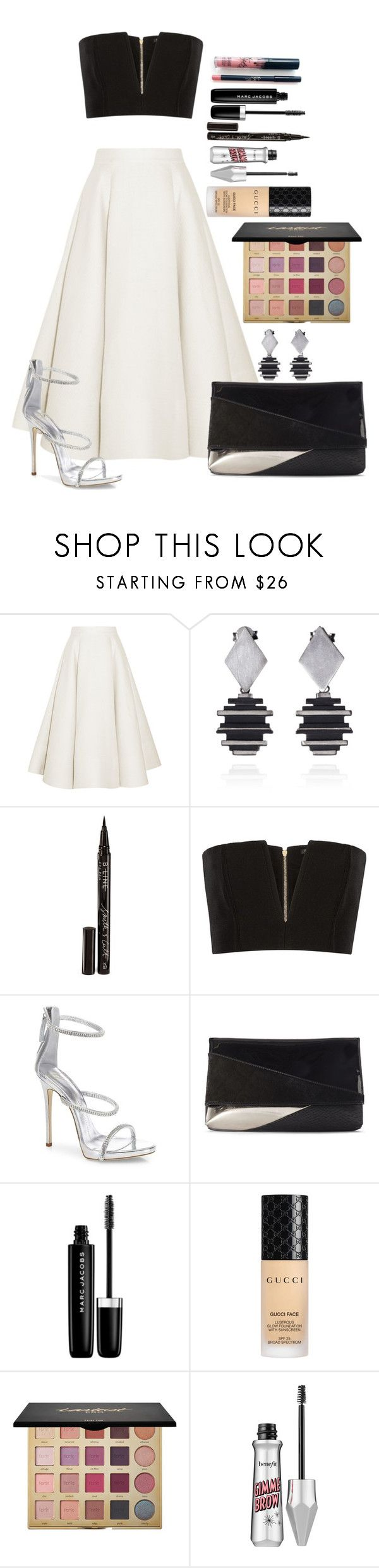"""Untitled #1686"" by fabianarveloc on Polyvore featuring Kylie Cosmetics, Roksanda, Smith & Cult, Balmain, Giuseppe Zanotti, Marc Jacobs, Gucci and tarte"