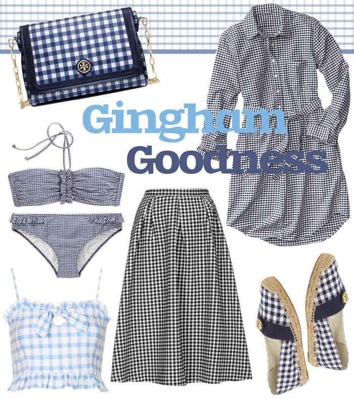 #Gingham Goodness! Get these #preppy pieces on www.fatfreefashion.com #summerstyle