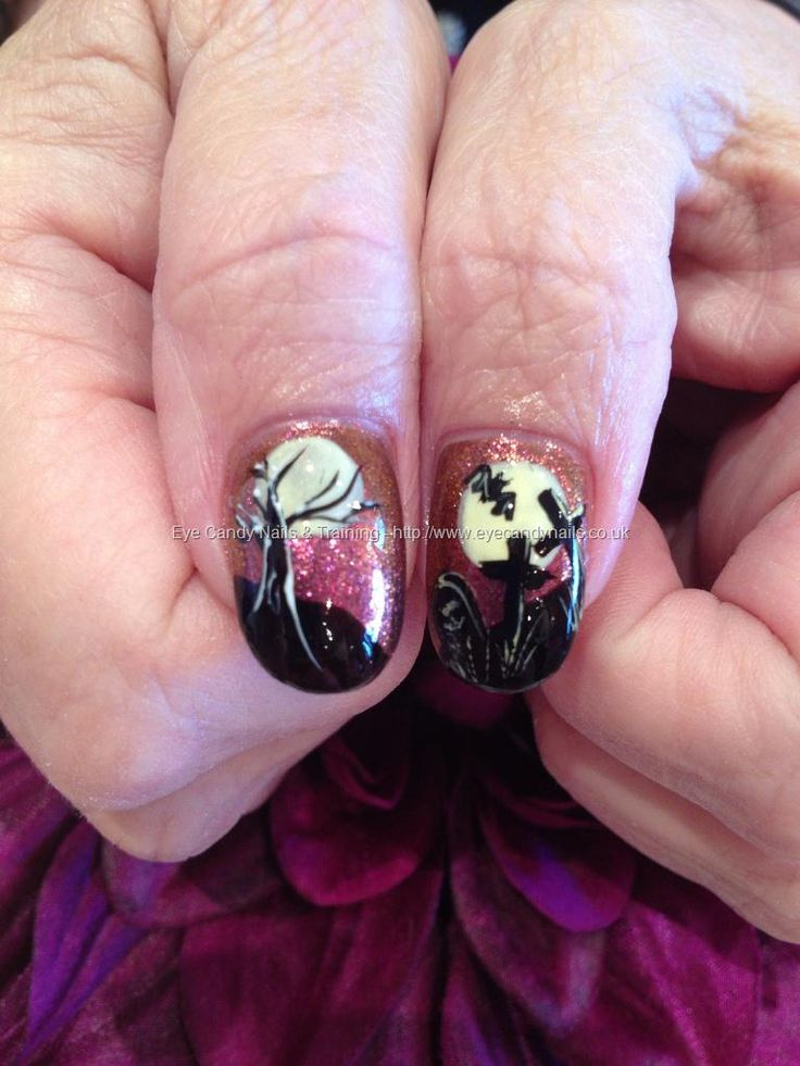 82 best halloween nails images on pinterest halloween nails eye candy nails training spooky tree and graveyard freehand halloween nail art by elaine moore on 30 october 2012 at prinsesfo Image collections