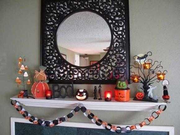 Mantel  Decorations : IDEAS & INSPIRATIONS : Super Cool Halloween Mantel Decorating Ideas