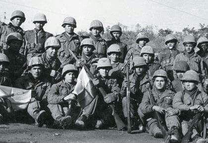 Soldados colombianos en la guerra de Corea