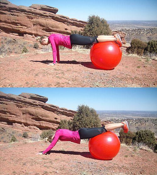 Ćwiczenie na piłce stabilizującej VII