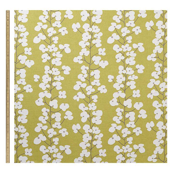 Buy John Lewis Wallflower Fabric, New Fennel Online at johnlewis.com