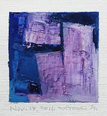Nov. 14 2016 Original Abstract Oil Painting by hiroshimatsumoto