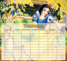 Disney International Snow White Timetable | Disney Snow White Printables, Coloring Pages and Activities | SKGaleana