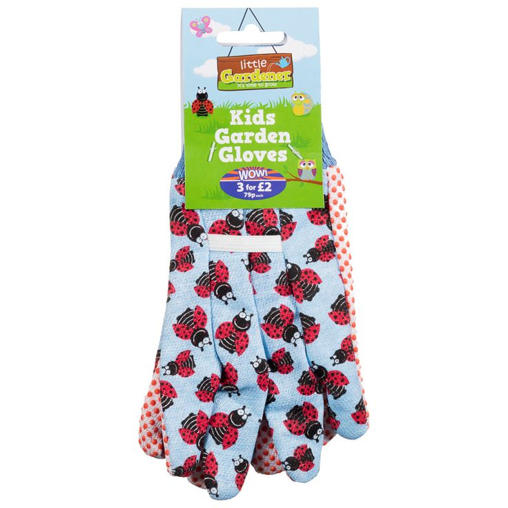 Our fun Kids Gardening Gloves are perfect for children who want to help in the garden - available in green, pink and blue