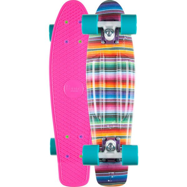 Penny Baja Original Skateboard ($100) ❤ liked on Polyvore featuring men's fashion, sports, skateboards and multi