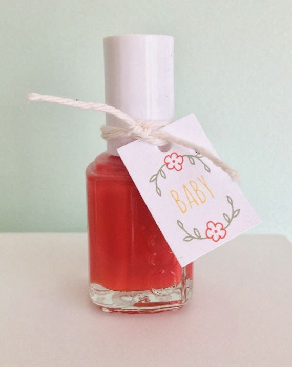 Nail Polish Favors Tags: Baby Bump Bundle Blog: 10 Baby Shower Party Favors